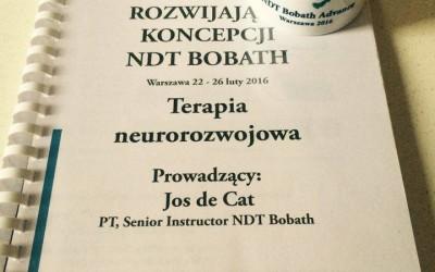 Kurs rozwijający NDT Bobath – luty 2016 podsumowanie